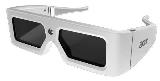 Очки 3D ACER E1w DLP,  белый [jz.k0100.001]