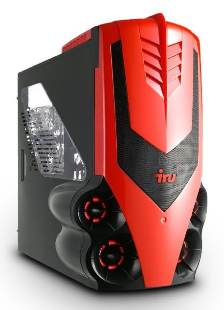 IRU Home 711,  Intel  Core i7  930,  6Гб, 2Тб,  nVIDIA GeForce GTX 285 - 1024 Мб,  DVD-RW,  CR,  Windows 7 Home Premium,  черный и красный