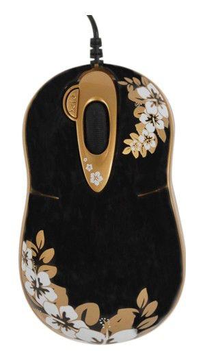 Мышь G-CUBE GLA-6SS лазерная проводная USB, черный и золотой