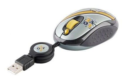 Мышь G-CUBE GLR-20RR лазерная проводная USB, серый и серебристый