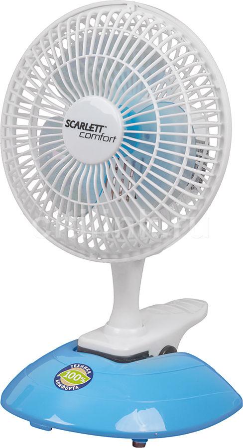 Вентилятор настольный SCARLETT SC-170,  белый и голубой [sc170]