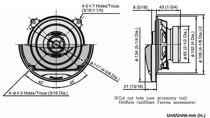 Колонки автомобильные PIONEER TS-G1012I,  коаксиальные,  120Вт