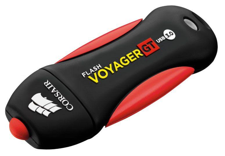 Флешка USB CORSAIR Voyager GT 128Гб, USB3.0, черный и красный [cmfvygt3a-128gb]