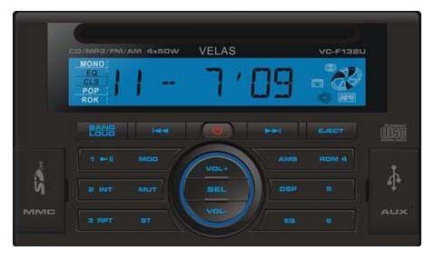Автомагнитола VELAS VC-F132U,  USB,  SD