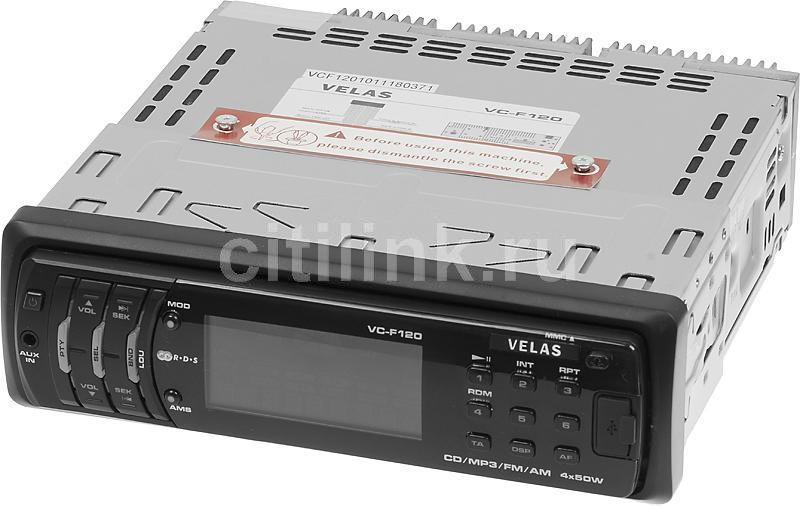 Автомагнитола VELAS VC-F120,  USB,  SD