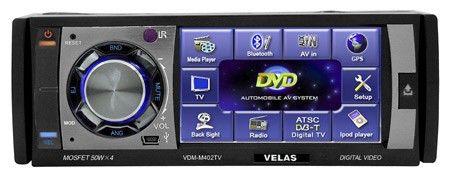 Автомагнитола VELAS VDM-M402TV,  USB,  SD