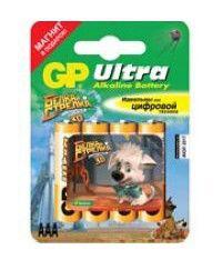 Батарея GP Ultra 24AUBIS-CR4 Белка и Стрелка,  4 шт. AAA