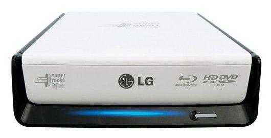 Оптический привод Blu-Ray LG BE08LU20, внешний, e-SATA/USB, черный + белый,  Ret [be08lu20.auae10b]