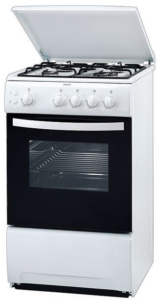 Газовая плита ZANUSSI ZCG 552GW2,  газовая духовка,  белый [zcg552gw2]