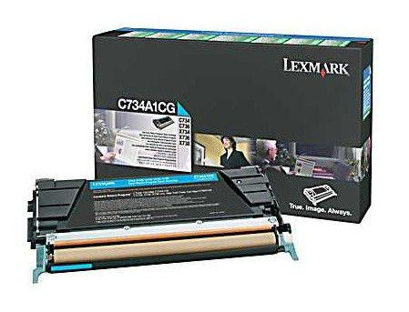 Картридж LEXMARK C734A1CG голубой