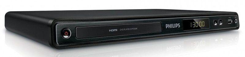 DVD-плеер PHILIPS DVP3560K/51,  черный