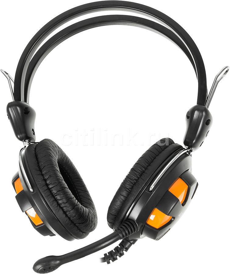 Гарнитура A4 HS-28,  для компьютера, мониторы,  оранжевый  / черный [hs-28 (orange black)]
