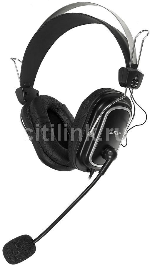 Наушники с микрофоном A4 HS-50,  мониторы, черный