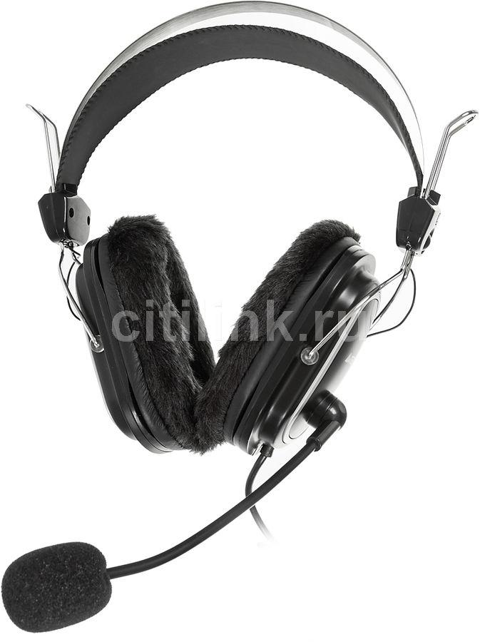Наушники с микрофоном A4 HS-60,  мониторы, черный