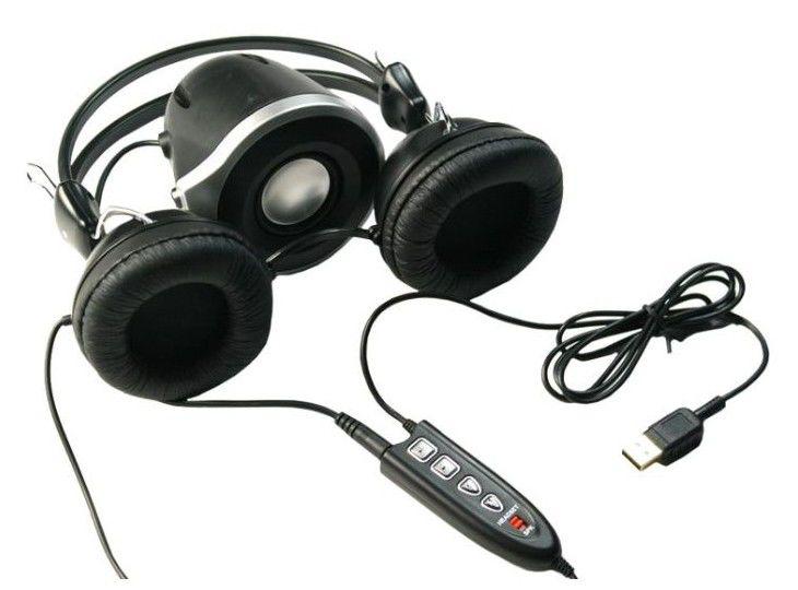 Наушники с микрофоном A4 HSB-500U,  мониторы, черный