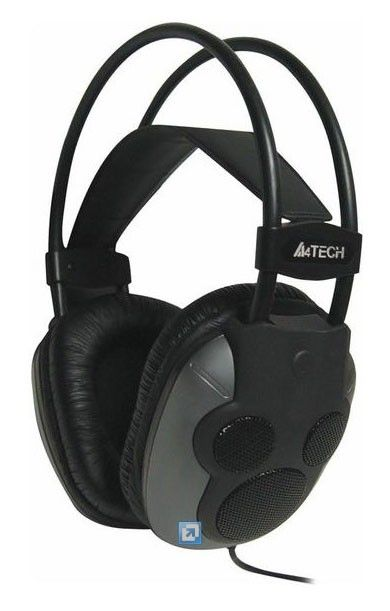 Наушники с микрофоном A4 HU-510,  мониторы, черный