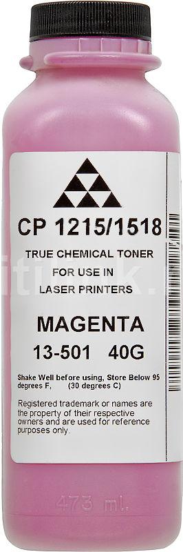 Тонер AQC CP1215,  для CP1215/1518,  пурпурный, 40грамм, флакон