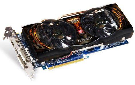 Видеокарта GIGABYTE Radeon HD 5870,  1Гб, GDDR5, OC,  Ret [gv-r587so-1gd]