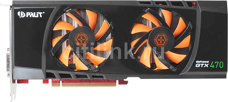Видеокарта PALIT GeForce GTX 470,  1.3Гб, GDDR5, Ret [ne5tx47010da-100xf]