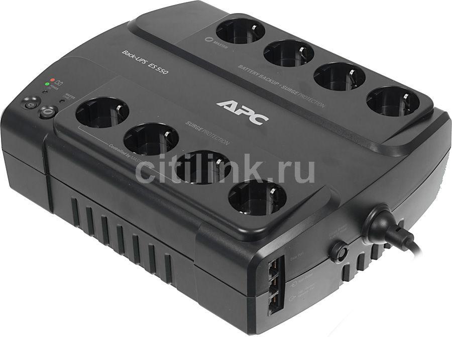 Источник бесперебойного питания APC Back-UPS ES BE550G-RS,  550ВA