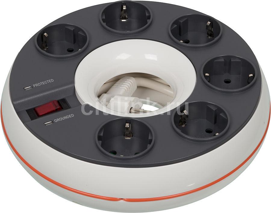 Сетевой фильтр IPPON BD-251W, 5м, белый [bd-251w 5m]