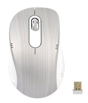 Мышь G-CUBE G7T-60S оптическая беспроводная USB, серебристый и белый
