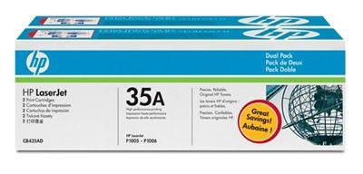 Двойная упаковка картриджей HP CB435AD черный