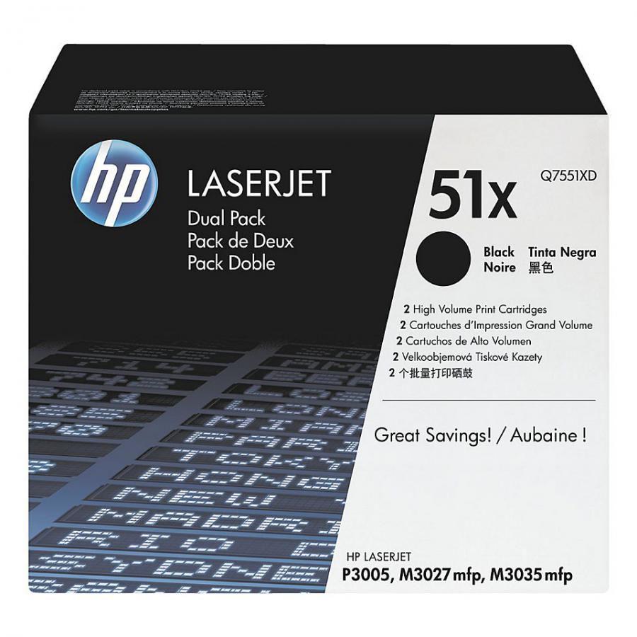 Двойная упаковка картриджей HP Q7551XD черный