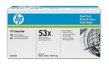 Двойная упаковка картриджей HP Q7553XD черный