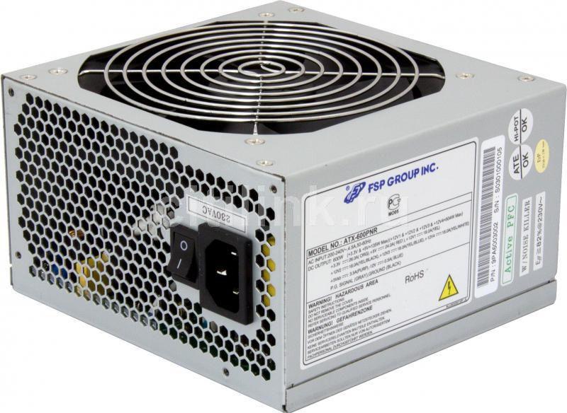Блок питания FSP 600PNR,  600Вт,  120мм [atx-600pnr]