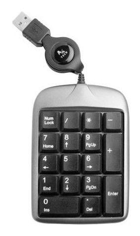 Числовой блок A4 TK-5,  USB, без русского алфавита,  серебристый + черный