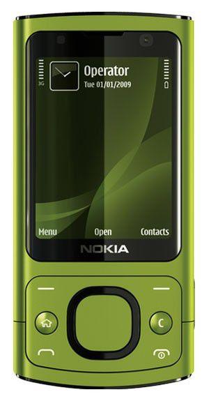 Мобильный телефон NOKIA 6700s  зеленый/желтый