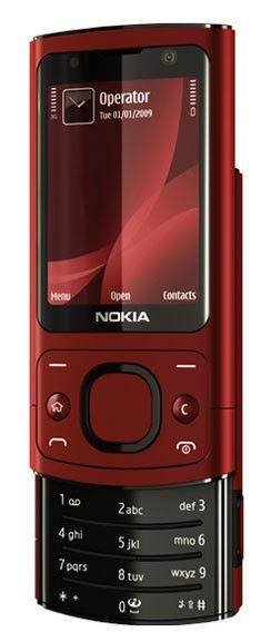 Мобильный телефон NOKIA 6700s,  красный