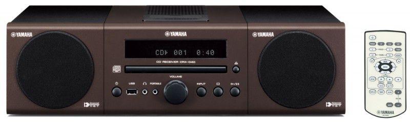 Музыкальный центр YAMAHA MCR-040,  коричневый