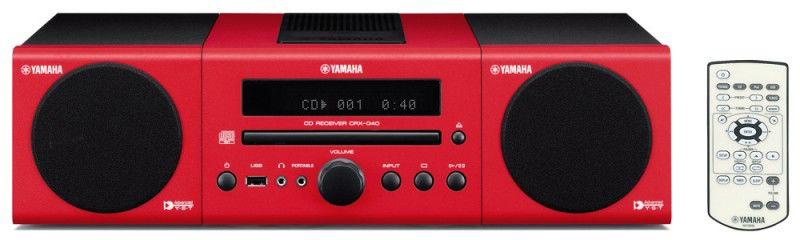 Музыкальный центр YAMAHA MCR-040,  красный