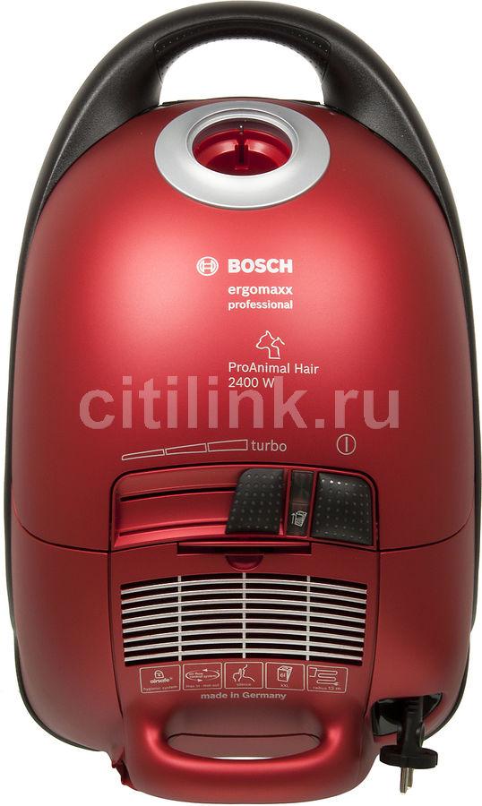 Пылесос BOSCH BSG82425, 2400Вт, красный