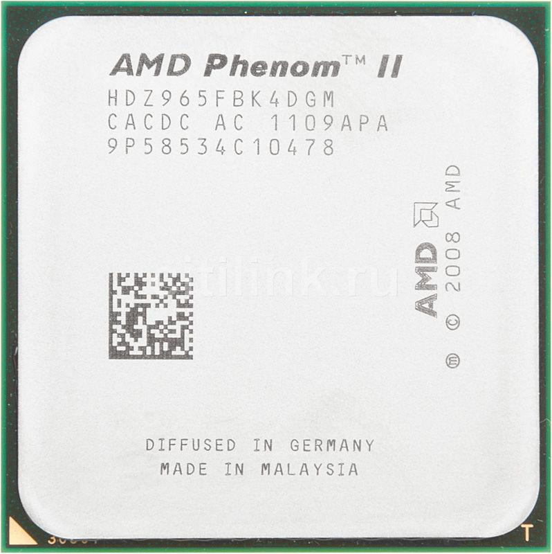 Процессор AMD Phenom II X4 965 Black Edition, SocketAM3 OEM [hdz965fbk4dgm]