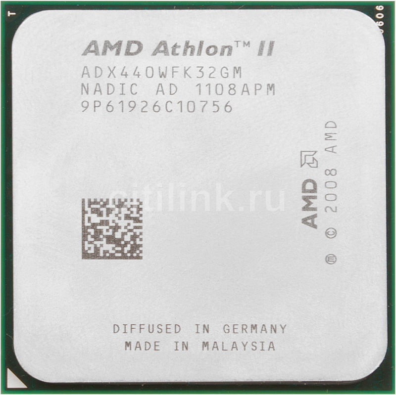 Процессор AMD Athlon II X3 440, SocketAM3 OEM [adx440wfk32gm]