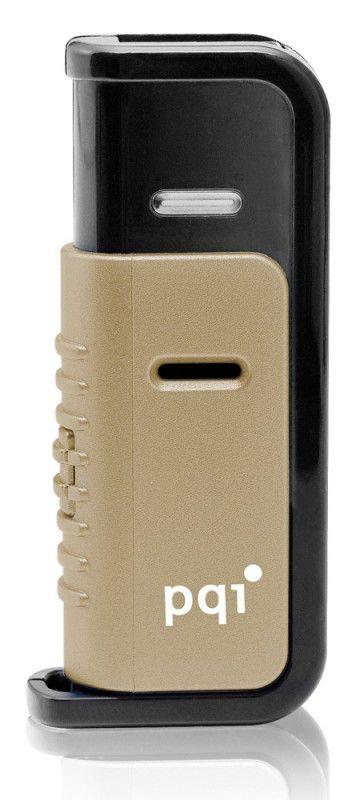 Флешка USB PQI Traveling Disk 4Гб, USB2.0, золотистый и коричневый [u266]