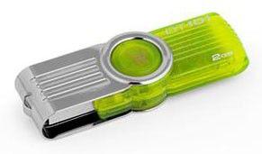 Флешка USB KINGSTON DataTraveler 101 G2 2Гб, USB2.0, зеленый [dt101g2/2gb]