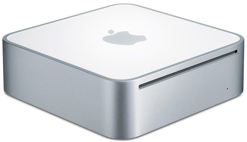 Неттоп  APPLE Mac mini MC238,  Intel  Core2 Duo  DDR3 2Гб, 160Гб,  nVIDIA GeForce 9400 M,  DVD-RW,  Mac OS X,  белый
