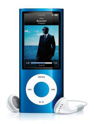MP3 плеер APPLE iPod Nano flash 16Гб синий [mc066]