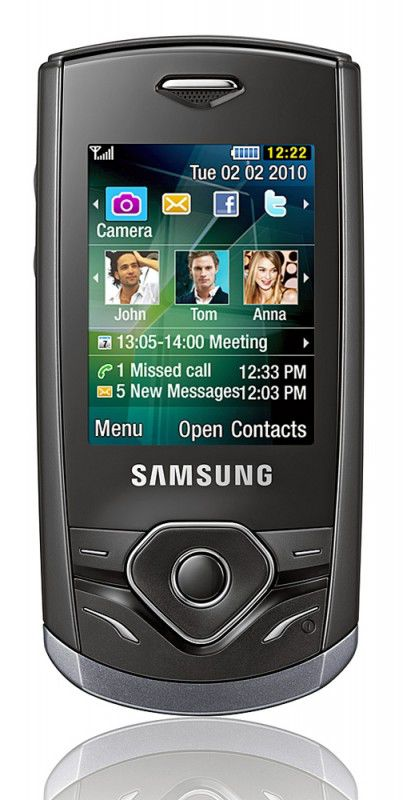 Мобильный телефон SAMSUNG GT-S3550,  серебристый