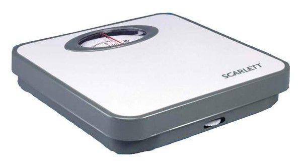 Весы SCARLETT SC210, до 120кг, цвет: белый
