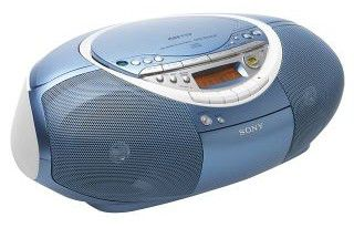 Аудиомагнитола SONY CFD-S35CPL,  голубой