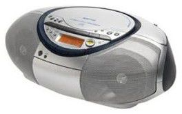 Аудиомагнитола SONY CFD-S35CPS,  серебристый