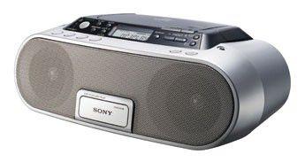 Аудиомагнитола SONY ZSP-S20CPS,  серебристый