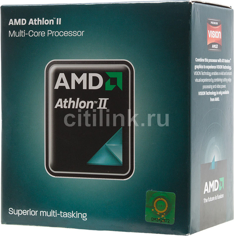 Процессор AMD Athlon II X4 640, SocketAM3 BOX [adx640wfgmbox]