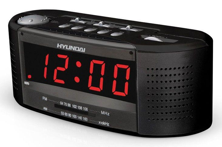 Радиобудильник HYUNDAI H-1510, красная подсветка,  черный