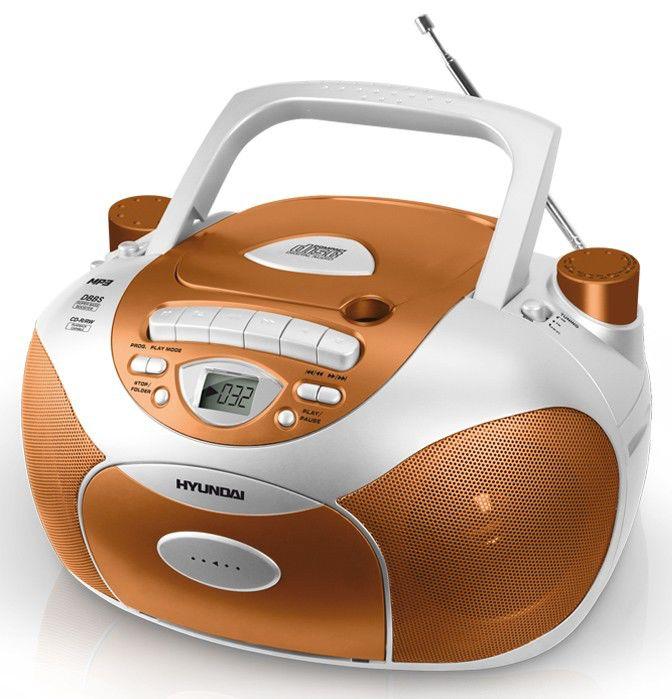 Аудиомагнитола HYUNDAI H-1412,  оранжевый